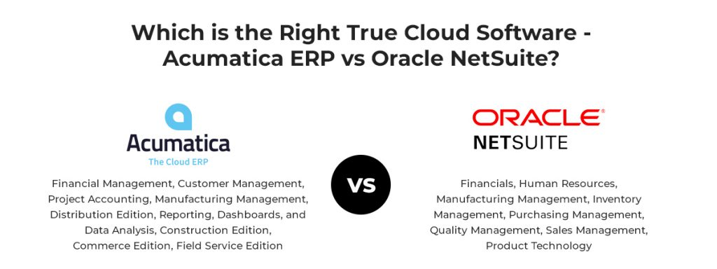 Acumatica ERP vs Oracle NetSuite