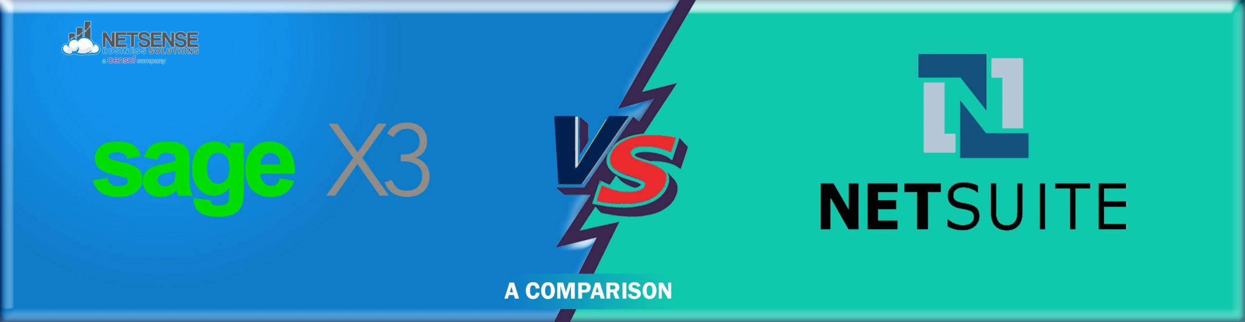 NetSuite vs Sage X3 Comparison